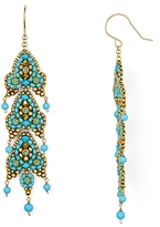 Miguel Ases Long Beaded Drop Earrings