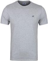 Cp Company Grey Marl Goggle Hood Print T-shirt