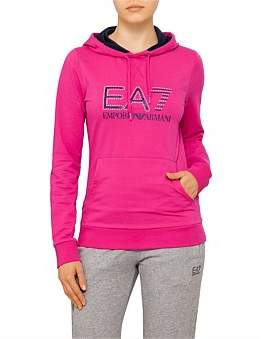 Emporio Armani Contrast Hoodie With Pearl Logo