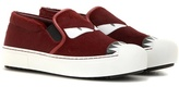 Fendi Calf Hair Slip-on Sneakers