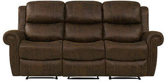 Roku Faux Leather 3 Seat Wall Hugger Recliner Sofa