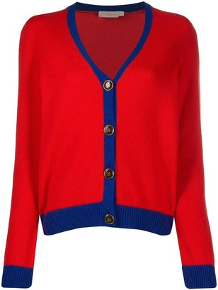 Tory Burch color-block cashmere cardigan