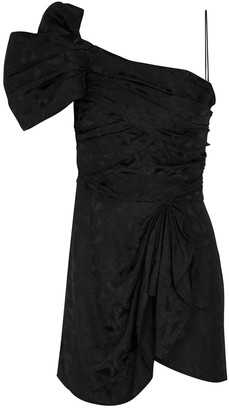 Isabel Marant Vetrae black jacquard satin mini dress