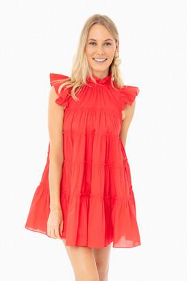 Rhode Resort Candy Red Tiffany Dress