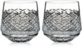 Monique Lhuillier Waterford Drinkware, Set of 2 Ellypse Double Old-Fashioned Glasses