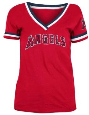 5th & Ocean Los Angeles Angels Women's Contrast Binding T-Shirt