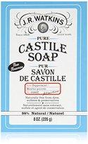 JR Watkins Pure Castile Bar Soap, Peppermint, 8 Ounce