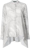 Alexander McQueen marble waterfall hem shirt
