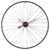 Infinity Instruments Tandem Wheel Wall Clock Navy/Red