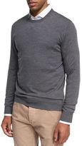 Isaia Crewneck Merino Wool Sweater