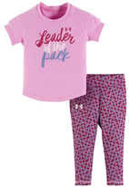 Under Armour Baby Girls Tee and Printed Capri Pants Leader of the Pack Set