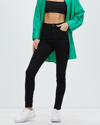 Abrand - Women's Black High-Waisted - A High Skinny Ankle Basher Jeans - Size 6 at The Iconic