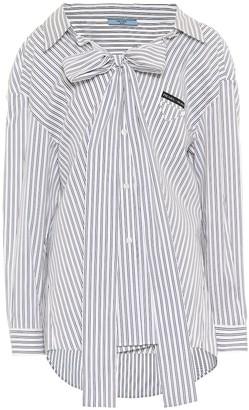 Prada Striped stretch-cotton shirt
