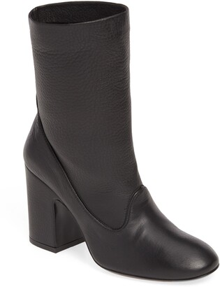 AGL Short Slouch Leather Boot