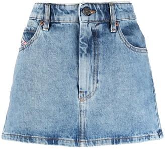 Diesel A-line denim skirt