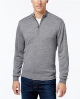 Cutter & Buck Men's Big and Tall Douglas Half-Zip Heathered Sweater