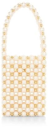 VANINA Inflorescence The Sicilia Faux Pearl Top Handle Bag