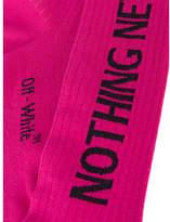 Off-White Nothing New Glitter Socks - White