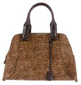 VBH Crocodile-Trim Ponyhair Via Bag
