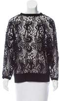 Isabel Marant Lace Long Sleeve Sweatshirt