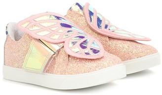 Sophia Webster Mini Butterfly glitter sneakers