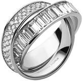 Michael Kors Pave Silver-Tone Eternity Ring