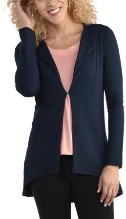 Fruit of the Loom Seek No Further by Women's Ponte Cardigan, Available in Sizes up to 2XL