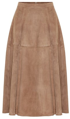 S Max Mara Onore high-rise suede midi skirt