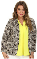 Vince Camuto Plus Plus One Button Animal Legacy Blazer