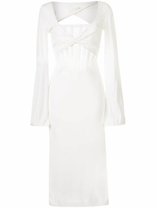Dion Lee Sheer-Panel Midi Dress