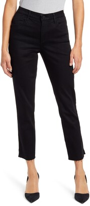 Wit & Wisdom Ab-Solution High Waist Slim Fit Raw Hem Crop Jeans