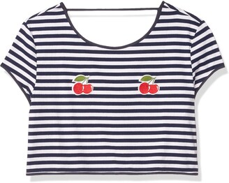 MinkPink Women's Cherry Kises Embroidery Tee
