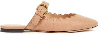 Chloé Lauren Studded Leather Slippers