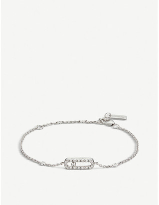 Messika Move Uno 18ct white-gold and pave diamond bracelet