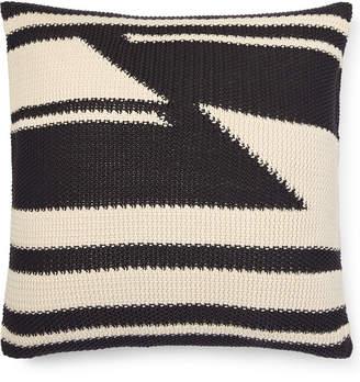 """Lauren Ralph Lauren Taylor Cotton Modern Knit 20"""" Square Decorative Pillow Bedding"""