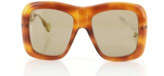 Gucci Chain Temple Square Sunglasses Acetate and Metal