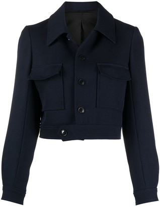AMI Paris Cropped Single-Breasted Jacket