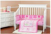 Dream On Me Pink Butterfly & Flower 3-pc. Crib Bedding Set
