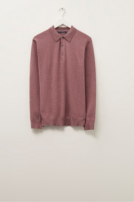 French Connection Stretch Cotton Long Sleeve Polo Shirt