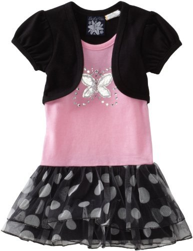 So La Vita Baby-girls Infant Big Butterfly with Hot Fixed Stones Dress