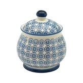 Nicola Spring Patterned Sugar Bowl / Pot with Lid - Blue Flower