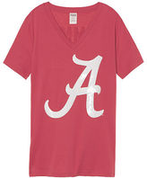 PINK University Of Alabama Bling Fitted V-neck Tee