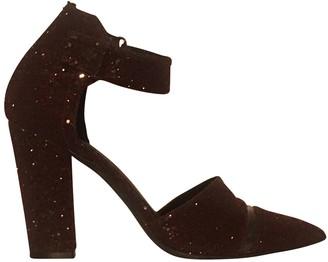 Nicholas Kirkwood Burgundy Glitter Sandals