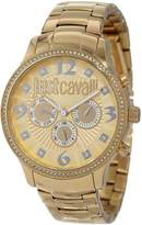 Just Cavalli Women's R7253127512 Huge Yellow Ion-Plated Coated Stainless Steel Swarovski Crystal Watch