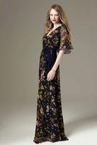 Paper Crown Eliot Maxi Dress in Navy Garden Bloom