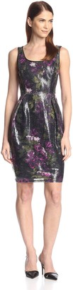 Donna Ricco Women's Printed Sequin Dress