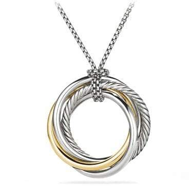 David Yurman Crossover Pendant Necklace With 14K Gold