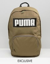 Puma Exclusive To ASOS Logo Backpack In Khaki
