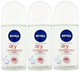 Nivea for Women Deodorant Roll On 1.69 oz - 3 Pack (Dry Confidence)