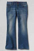 Lands' End Girls Plus 5-pocket Denim Boot Cut Jeans-Authentic Light Wash